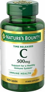 Nature's Bounty Time Release Vitamin C 500mg 100 Capsules
