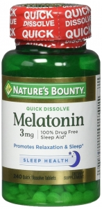 Nature's Bounty Natural Melatonin 3mg, Tablets 240ct