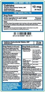 Cetirizine HCl 10mg Tablet- 100ct Unit Dose Packaging
