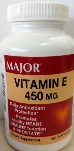 Major Vitamin E 450 Mg Softgels 100ct