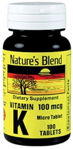 Nature's Blend Vitamin K 100 mcg Tablets - 100ct