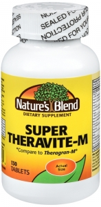 Nature's Blend Super Theravite-M Tablets- 130ct