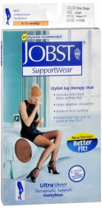 Jobst UltraSheer, Pantyhose, 8-15mmHG Compression, Silky Beige, Large, 1 Pair