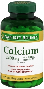 Nature's Bounty Calcium 1200 mg plus Vitamin D3 1000IU Dietary Supplement Softgels - 120ct