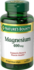 Nature's Bounty Magnesium 400mg Softgels 75ct