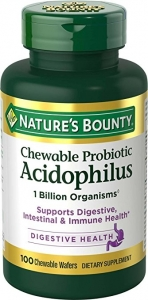 Nature's Bounty Acidophilus Chewable Wafers - 100ct