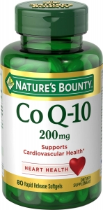 Nature's Bounty Extra Strength CoQ-10 200mg Rapid Release Softgels 80ct