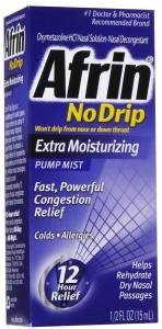 Afrin Nasal Spray No Drip Extra Moisturizing Pump Mist - 15ml