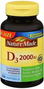 Nature Made Vitamin D3 2000 I.U. Liquid Softgel 250ct