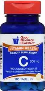 GNP Vitamin C 500 mg Chewable Tablets 100ct