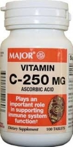 Major Vitamin C 250mg Tablets- 100ct