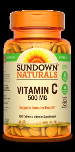Sundown Naturals High Potency Vitamin C 500mg Tablets 100ct