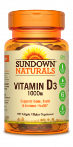 Sundown Naturals High Potency Vitamin D3 1000 IU 200 Softgels