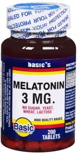 Basic Vitamin Melatonin 3mg 200 Tablets