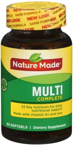 Nature Made Multivitamin Complete Softgels, 60 Count for Daily Nutritional Support