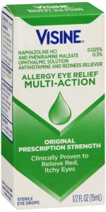 Visine Allergy Relief Multi-Action Antihistamine Eye Drops, 0.5 fl. oz