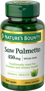 Nature's Bounty Saw Palmetto, 450mg, Capsules, 100ct