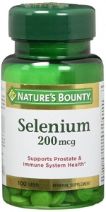 Nature's Bounty Selenium, 200mcg Tablets, 100ct