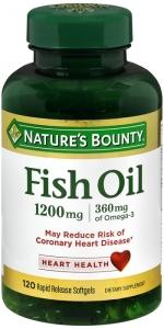 Nature's Bounty Fish Oil 1200mg Softgels, 120ct