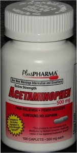 Acetaminophen (500mg) - 100 Caplets