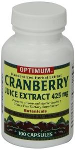 Optimum Cranberry Juice Extract Capsules, 425mg, 100ct