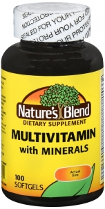 Natures Blend Multi-Vitamin With Minerals Soft Gels 100ct