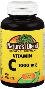 Natures Blend Vitamin C 1000 mg Tablets, 100ct