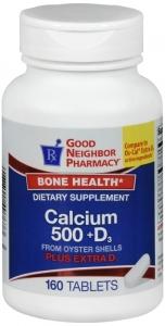 GNP Calcium 500 +D 600 IU Tablets 160 ct