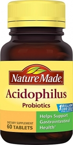Nature Made Acidophilus Probiotics Tablets - 60ct