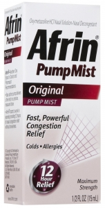 Afrin Maximum Strength 12 Hour Relief Pump Mist Original - 0.5 oz