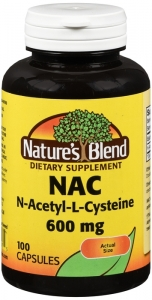 Nature's Blend NAC (N-Acetyl-L-Cysteine) 600 mg capsules - 100ct