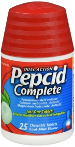 Pepcid Complete Chewable Tablets Cool Mint Flavor 25ct