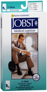 JOBST Men's Socks, 20-30mmHG Compression, Black, Extra-Large - 1 Pair