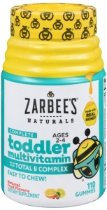 ZarBee's Naturals Toddler Multi Vitamins Gummies - 110ct