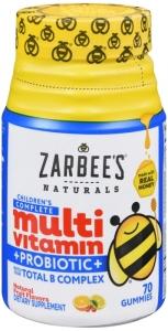 Zarbee's Naturals Children's Complete Multivitamin + Probiotic Gummies 70ct