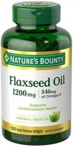 Nature's Bounty Flaxseed Oil 1200mg - 125 Softgels