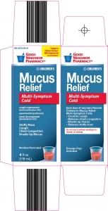 GNP® Children's Multi Symptom Mucus Relief Liquid, Berry- 4oz