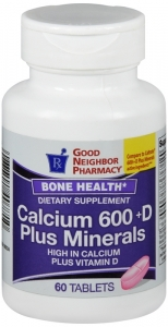 GNP Calcium 600 +D Plus Minerals 60 Tablets