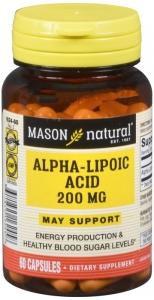 Mason Natural Alpha-Lipoic Acid 200 mg Capsules 60 ct