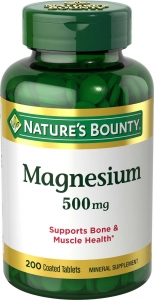 Nature's Bounty Magnesium 500mg 200ct