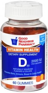 GNP Vitamin D3 2000 IU Gummies 60ct