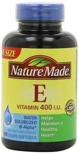 Nature Made dl-Alpha Vitamin E 400 IU Softgels - 300ct