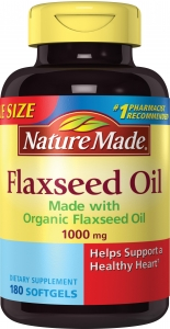 Nature Made Flaxseed Oil 1000 mg Softgels - 180 ct