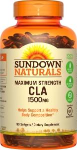 Sundown Naturals CLA Dietary Supplement Softgels 1500mg 90ct