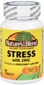 Nature's Blend Stress Formula with Zinc Tablets- 60ct
