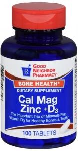 GNP Cal Mag Zinc +D3 Tablets 100ct
