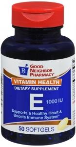 Vitamin E 1000 IU - 50 Softgels