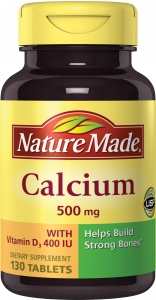 Nature Made Calcium 500mg Tablets 130ct