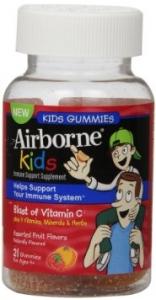 Airborne Immune Support Supplement Gummies with Vitamin C for Kids- 42ct