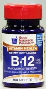 GNP B-12 Sublingual Vitamin Supplement 2500mcg Tablets 60ct